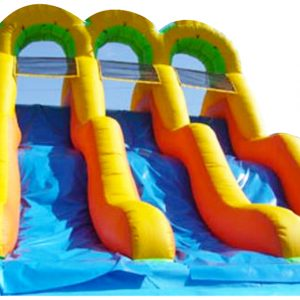 Triple Water Slide Fun Jump