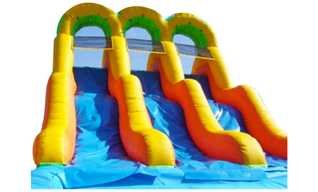 Triple Water Slide Fun Jump