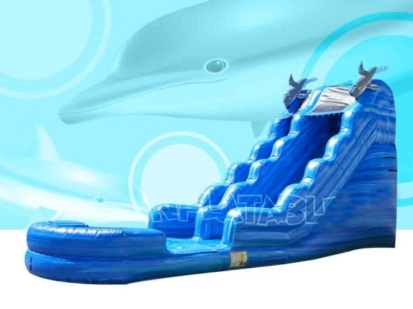 18 ft Dolphin Blue Ocean Water Slide