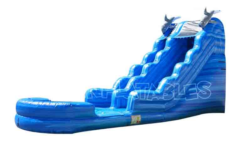 18 Ft Dolphin Blue Ocean Water Slide