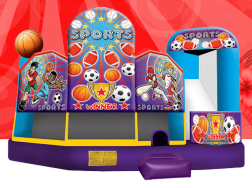 5-in-1 Sports Combo Bounce House