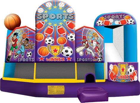 5 in 1 combo bounce house for rent - lake charles